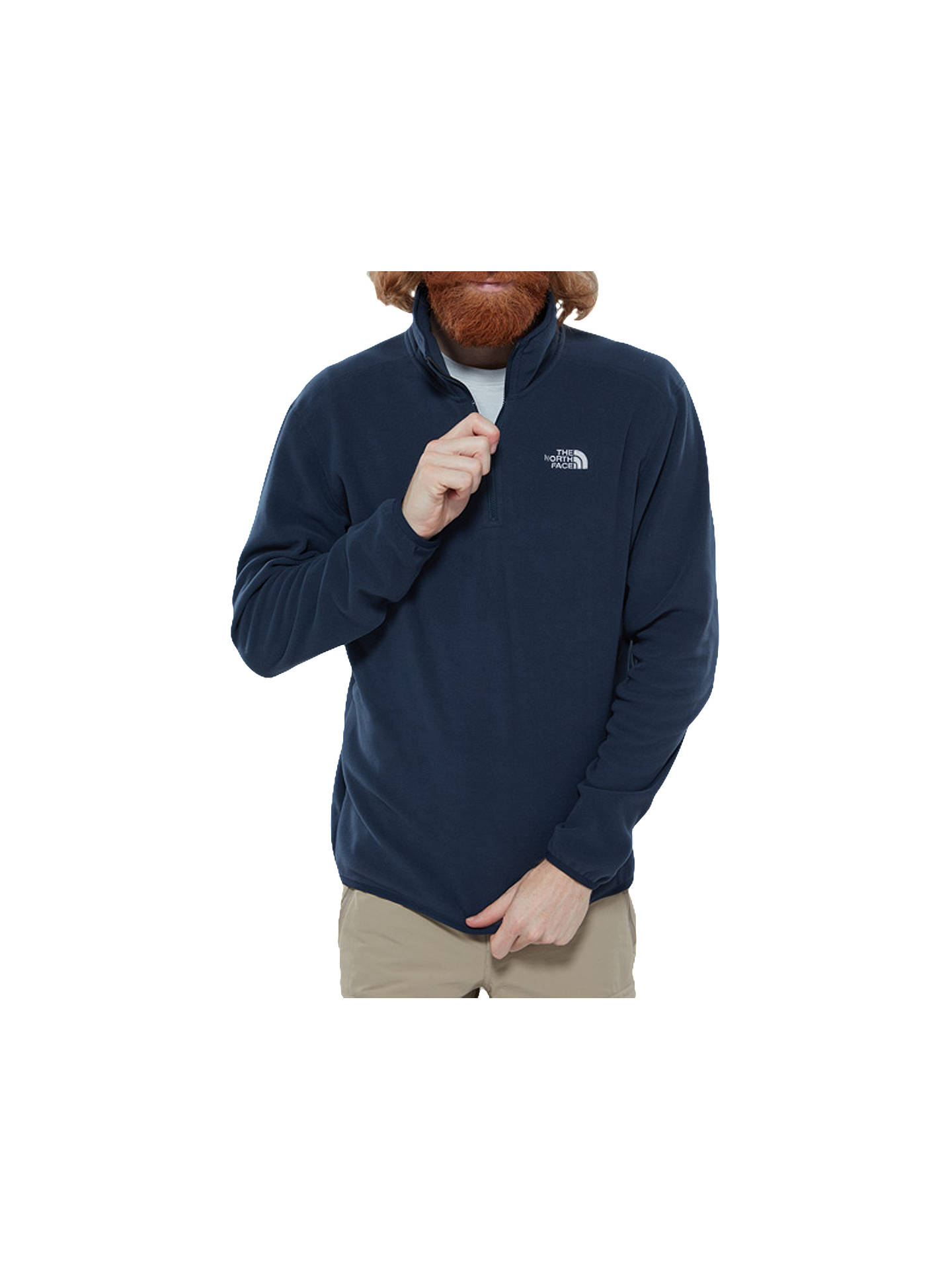 BuyThe North Face 100 Glacier 1/4 Zip Men's Fleece, Navy, S Online at johnlewis.com
