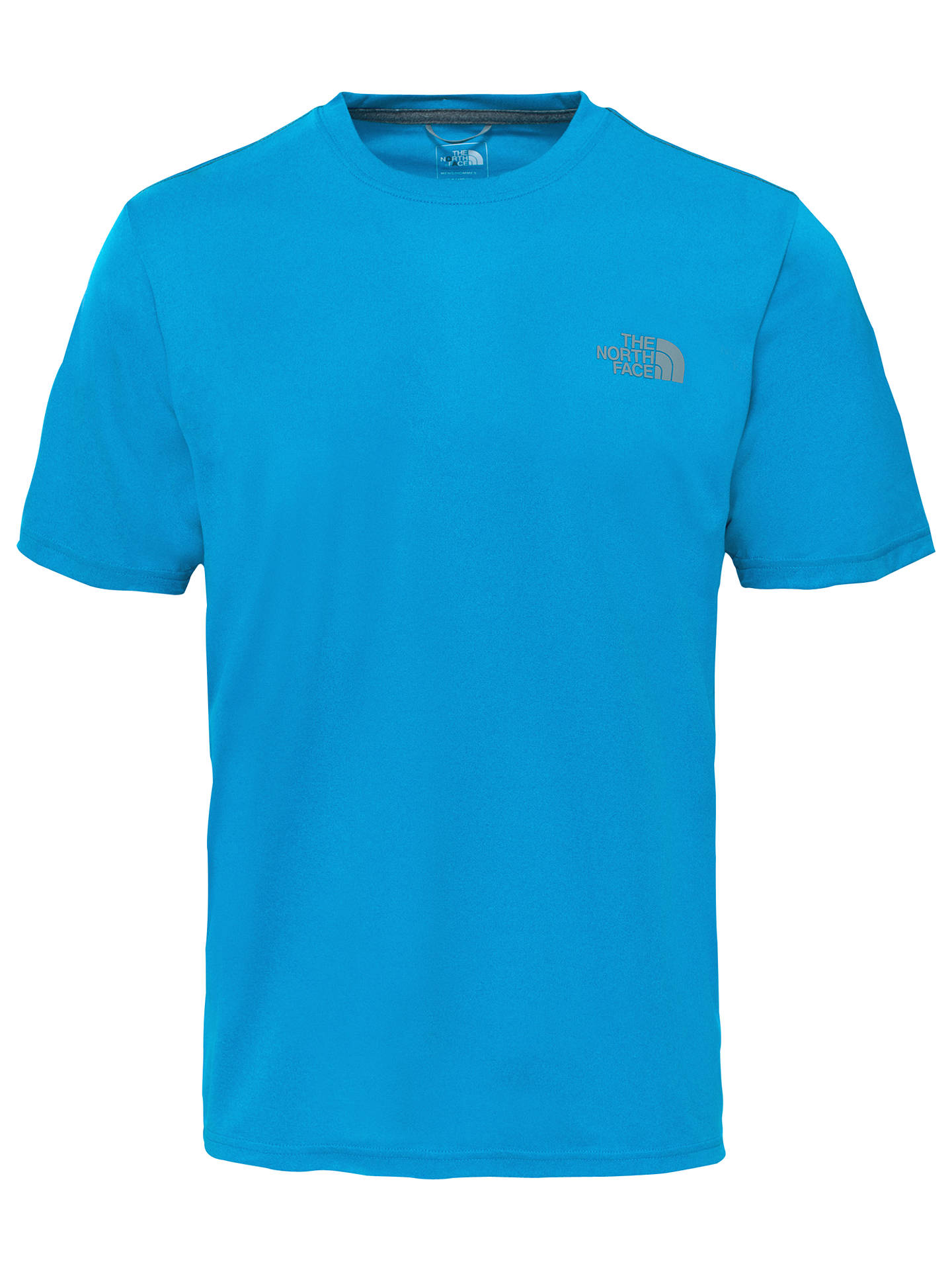 b0383ed60851 The North Face Reaxion Amp Crew Neck Training T-Shirt, Blue at John ...