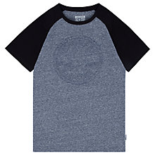 Buy Converse Boys' Chuck Patch Raglan T-Shirt, Blue Online at johnlewis.com