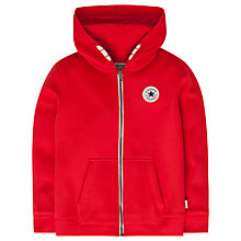 Buy Converse Children's All Star Core Zip Hoodie, Red Online at johnlewis.com