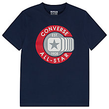 Buy Converse Boys' Retro All Star T-Shirt, Navy Online at johnlewis.com