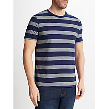 Buy John Lewis Wider Stripe T-Shirt, Navy Online at johnlewis.com