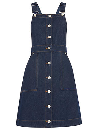 Buy Whistles Gracie Dungaree Dress, Dark Denim, 6 Online at johnlewis.com