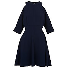 Buy Whistles Josephine Cold Shoulder Dress, Blue Online at johnlewis.com