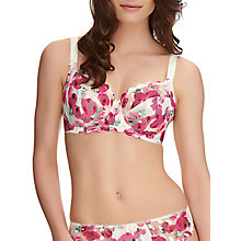 Buy Fantasie Rosanne Rose Print Side Support Balcony Bra, Ivory/Multi Online at johnlewis.com