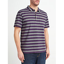 Buy John Lewis Passenger Stripe Polo Shirt, Blue/Pink Online at johnlewis.com