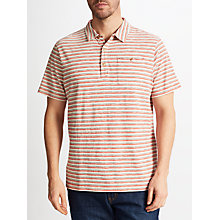 Buy John Lewis Conductor Stripe Polo Shirt, Pink Online at johnlewis.com