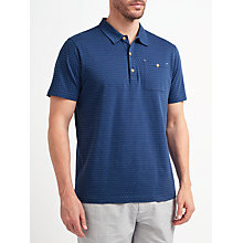 Buy John Lewis Passenger Polka Dot Polo Shirt, Blue Online at johnlewis.com