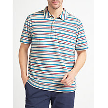 Buy John Lewis Engineered Stripe Polo Shirt, Ecru Online at johnlewis.com