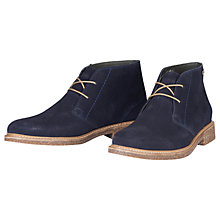 Buy Barbour Redhead Desert Boots, Navy Online at johnlewis.com