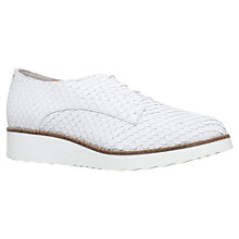 Buy Carvela Larrissa Lace Up Brogues, White Online at johnlewis.com
