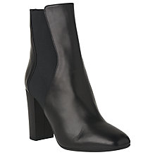 Buy L.K. Bennett Ebbe Block Heeled Ankle Boots, Black Online at johnlewis.com
