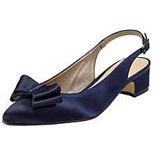 Buy John Lewis Brooke Bow Sling Back Court Shoes, Navy Online at johnlewis.com