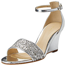 Buy John Lewis Dawson Wedge Heeled Sandals, Silver Online at johnlewis.com