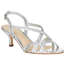 Buy John Lewis New Glamour Multi Strap Kitten Heeled Sandals Online at johnlewis.com