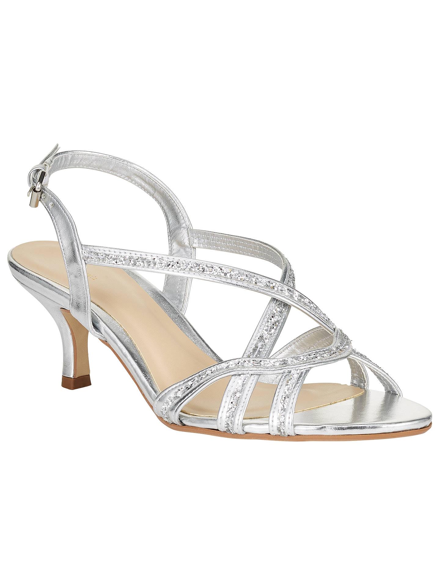 51422b52f89 John Lewis New Glamour Multi Strap Kitten Heeled Sandals at John ...