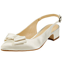 Buy John Lewis Brooke Bow Sling Back Court Shoes, Ivory Online at johnlewis.com