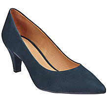 Buy John Lewis Arin Pointed Toe Court Shoes, Navy Online at johnlewis.com