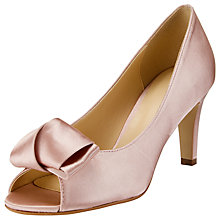 Buy John Lewis Cosmopolitan Bow Peep Toe Sandals, Pink Online at johnlewis.com