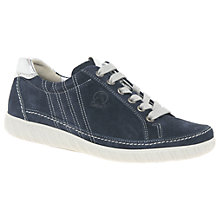 Buy Gabor Amulet Wide Fit Lace Up Trainers, Navy Online at johnlewis.com