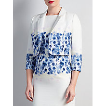 Buy Bruce by Bruce Oldfield Floral Placement Jacket, Blue Online at johnlewis.com