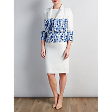 Buy Bruce by Bruce Oldfield Floral Placement Dress & Coat, Blue co-ordinating range Online at johnlewis.com