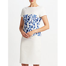 Buy Bruce by Bruce Oldfield Floral Placement Dress, Blue Online at johnlewis.com