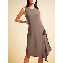 Buy Modern Rarity Sleeveless Side Drape Dress, Brown Online at johnlewis.com
