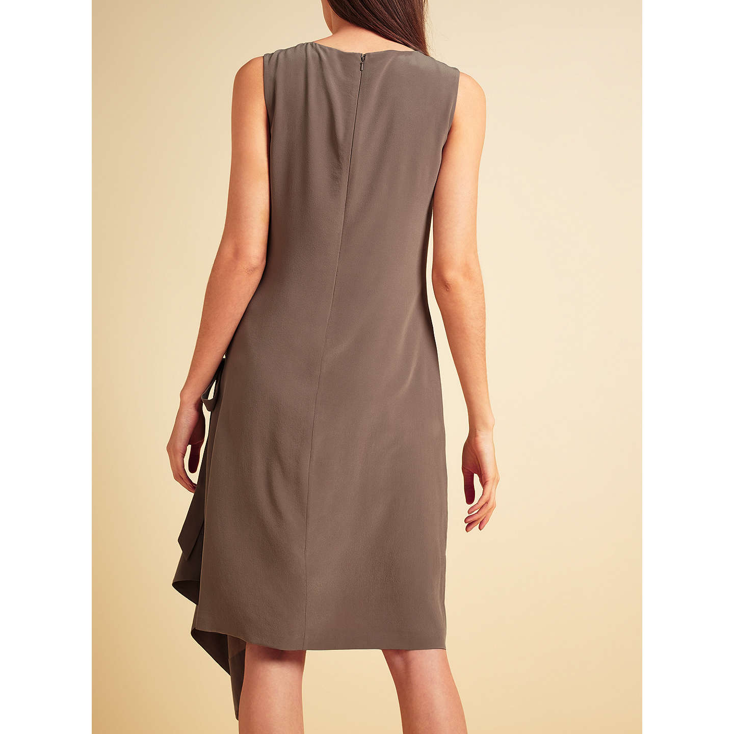 BuyModern Rarity Sleeveless Side Drape Dress, Brown, 8 Online at johnlewis.com