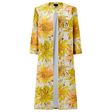 Buy Bruce by Bruce Oldfield Jacqaurd Floral Coat, Yellow Online at johnlewis.com