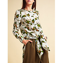 Buy Modern Rarity Archive Lily Print Tie Front Tunic, Multi Online at johnlewis.com