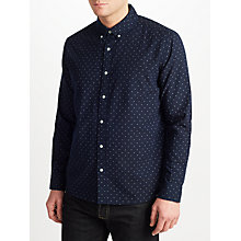 Buy JOHN LEWIS & Co. Dot Print Shirt, Indigo Online at johnlewis.com