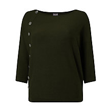 Buy Phase Eight Natka Button Jumper, Olive Online at johnlewis.com