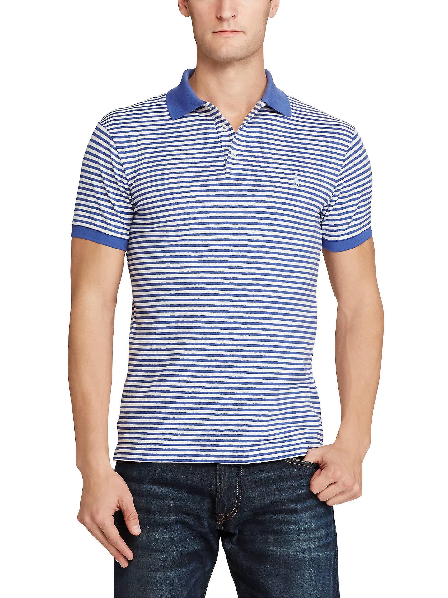 9bc0840f9 Polo Ralph Lauren Striped Slim Fit Stretch Cotton Mesh Polo Shirt ...