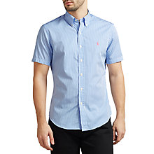 Buy Polo Ralph Lauren Slim Fit Striped Poplin Short Sleeve Shirt Online at johnlewis.com