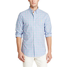 Buy Polo Ralph Lauren Poplin Button-Down Sports Fit Shirt, Harbour Blue Online at johnlewis.com
