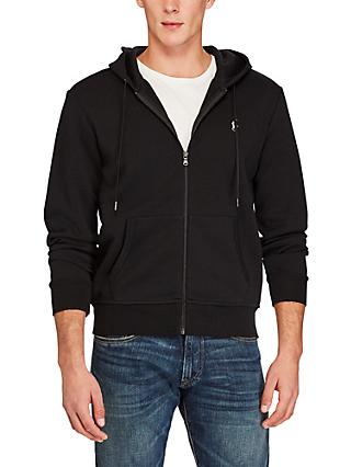 Polo Ralph Lauren Zip Pocket Full Zip Hoodie, Polo Black
