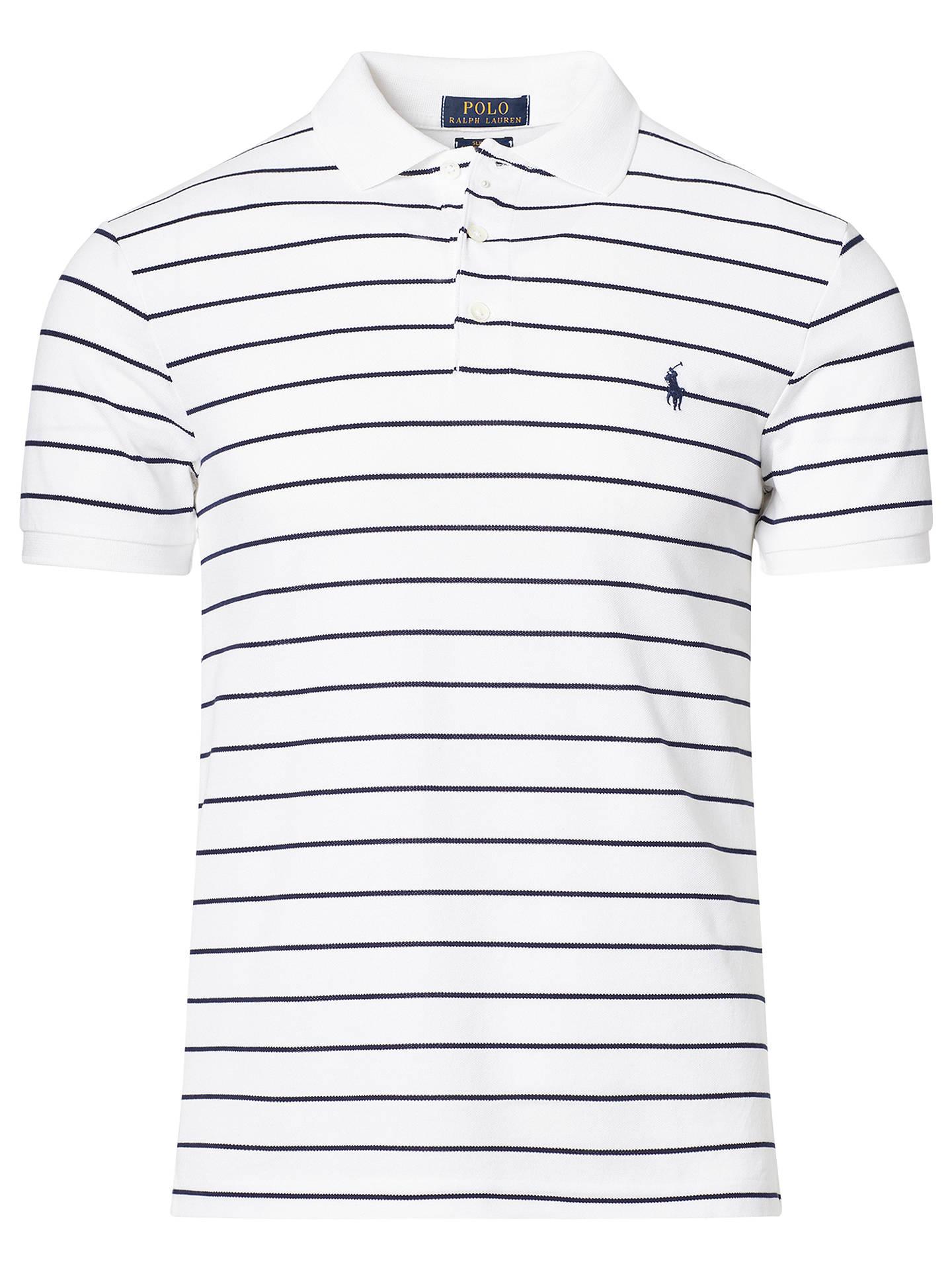 457207d025ea2 ... Buy Polo Ralph Lauren Striped Slim Fit Stretch Cotton Mesh Polo Shirt