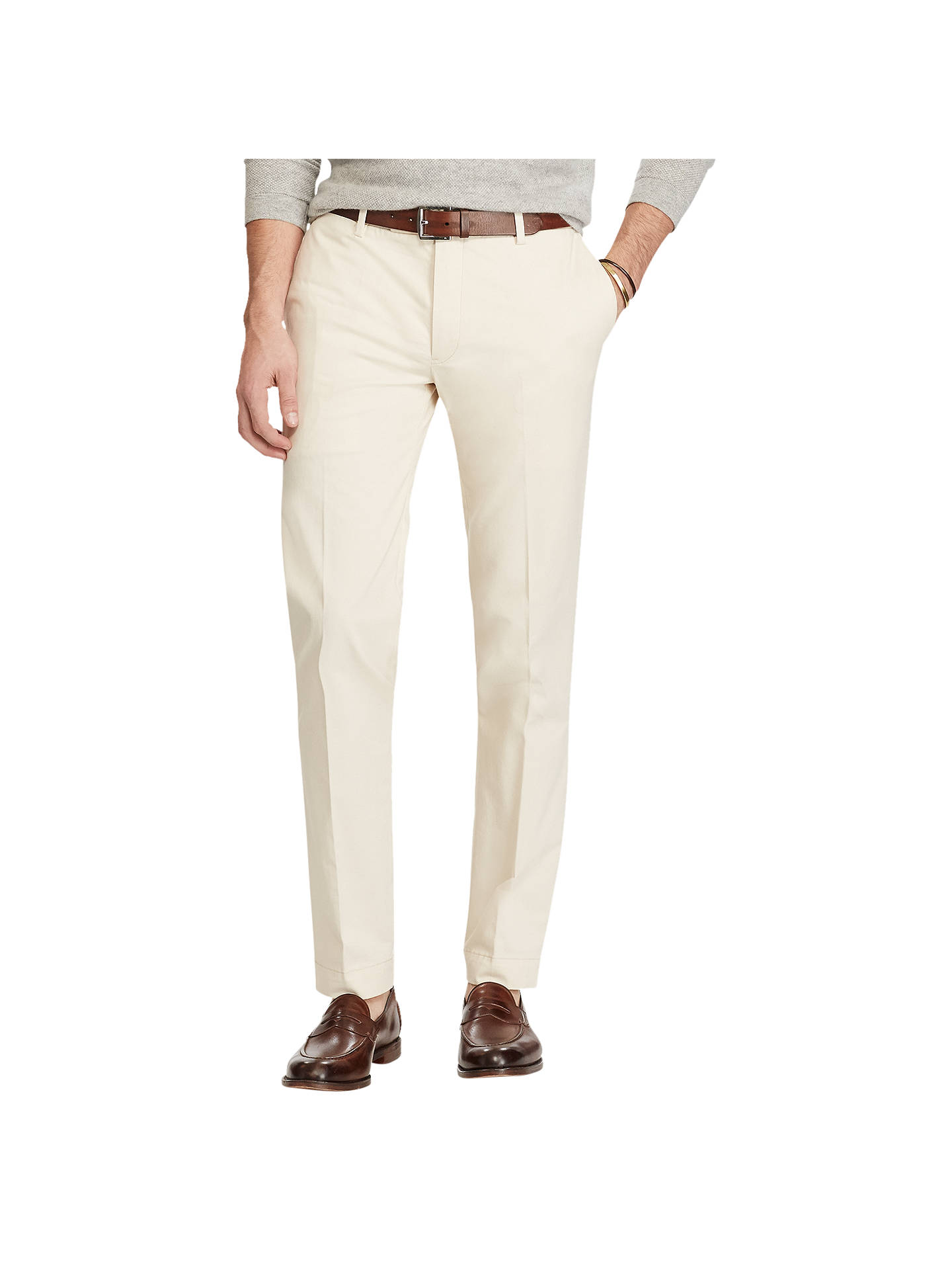 b499514108 Polo Ralph Lauren Stretch Slim Fit Twill Chinos, Frontier Cream at ...