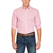 Buy Polo Ralph Lauren Slim Fit Striped Cotton Poplin Shirt, Hammond Pink Online at johnlewis.com