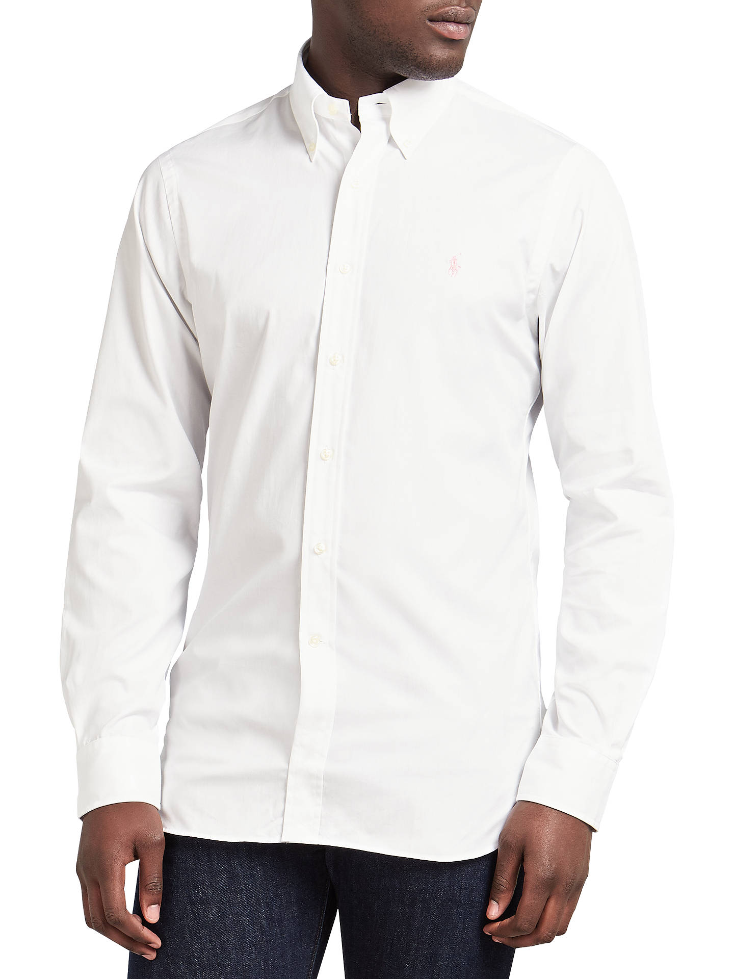 b0119eb30 Polo Ralph Lauren Slim Fit Cotton Poplin Shirt at John Lewis   Partners