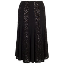 Buy Chesca Lace And Jersey Panel Skirt, Black Online at johnlewis.com