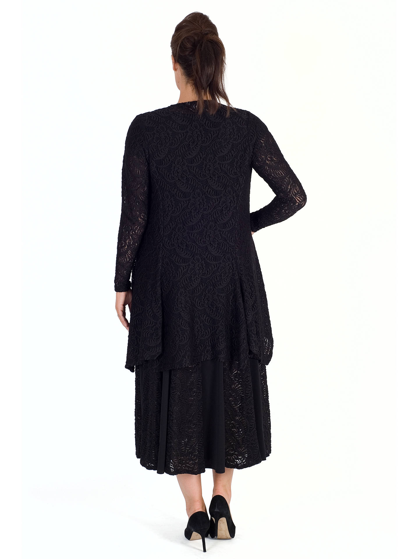 BuyChesca Scallop Lace Shrug, Black, 12-14 Online at johnlewis.com