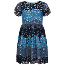 Buy Yumi Girl Three Colour Lace Dress, Navy Online at johnlewis.com