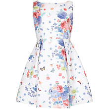 Buy Yumi Girl Botanical Jacquard Prom Dress, White/Multi Online at johnlewis.com