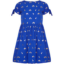 Buy Yumi Girl Tropical Flamingo Dress, Cobalt Online at johnlewis.com