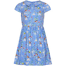 Buy Yumi Girl Bird Print Tea Dress, Sky Blue Online at johnlewis.com