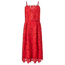 Buy Somerset by Alice Temperley Flared Lace Dress, Hot Coral Online at johnlewis.com