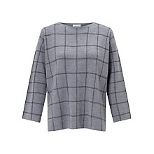 Buy Jigsaw Window Pane Check Jumper, Light Grey Online at johnlewis.com