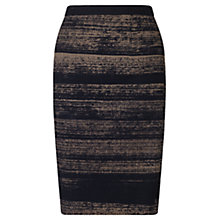 Buy Jigsaw Urban Lines Pencil Skirt, Black Online at johnlewis.com